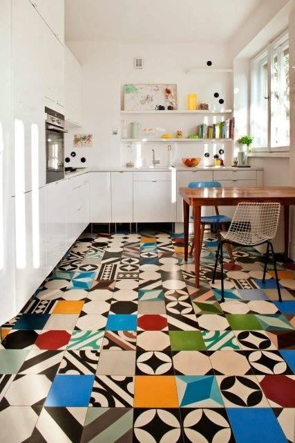 Patchwork In Cucina Mix Di Colori SPAZIO Soluzioni