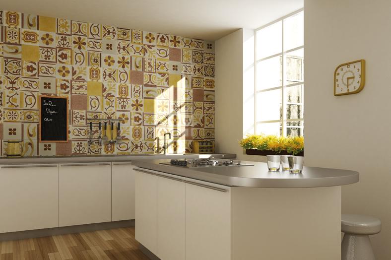 Patchwork in cucina mix di colori spazio soluzioni - Piastrelle per cucina classica ...