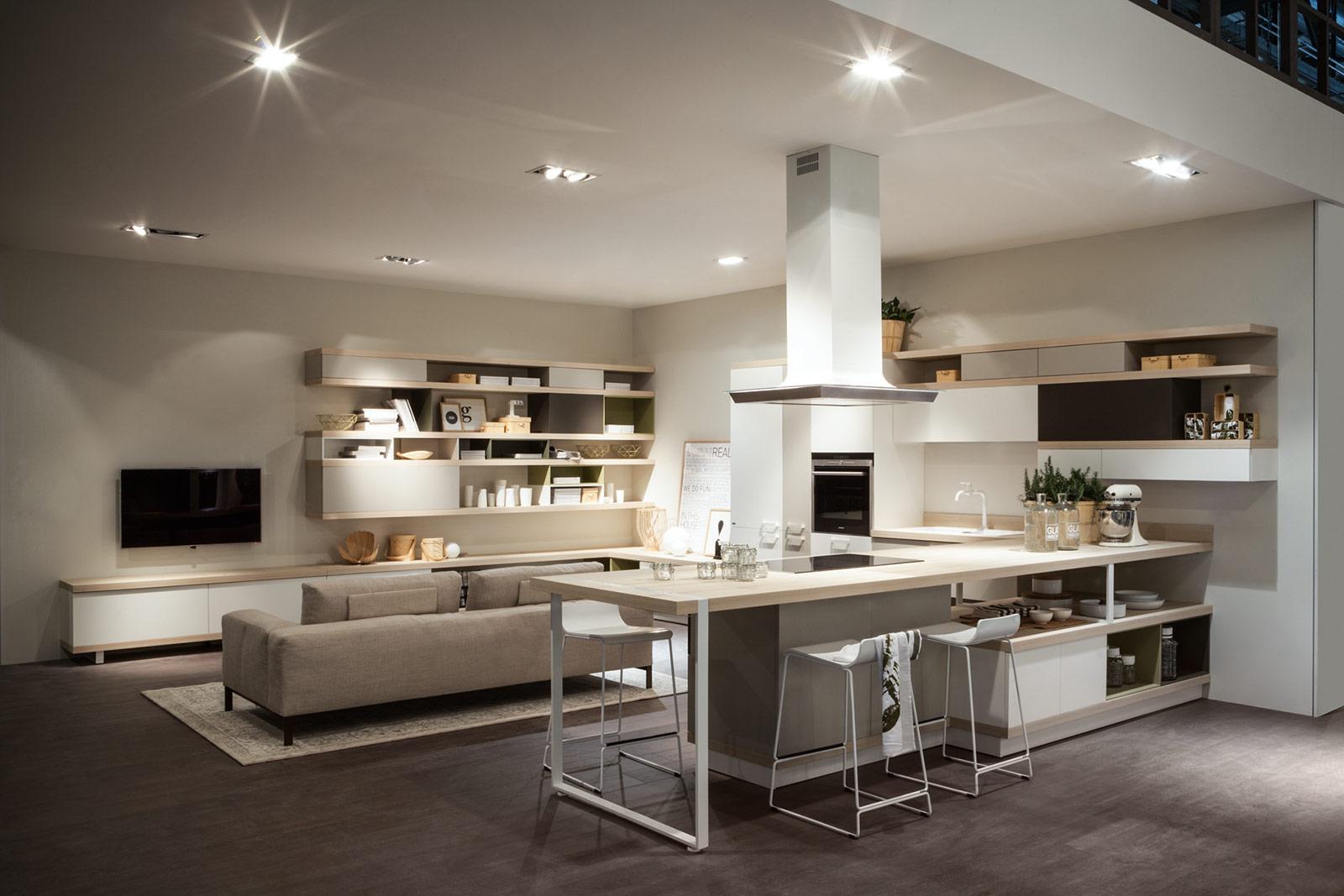 Best Cucine E Soggiorno Unico Ambiente Pictures - Design Trends 2017 ...