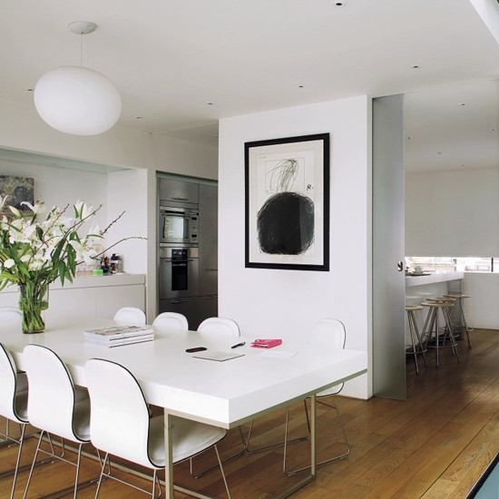 Ambiente pranzo concetto di convivialit spazio soluzioni - Separazione cucina soggiorno ...