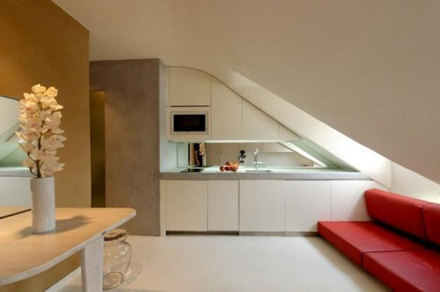 Il fascino di mansarde e sottotetti spazio soluzioni - Cucine per mansarde ...