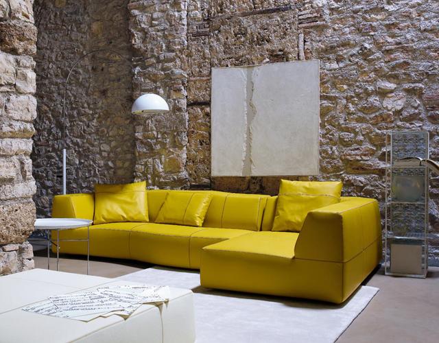 divano B&B Italia bend sofa in pelle design Patricia Urquiola