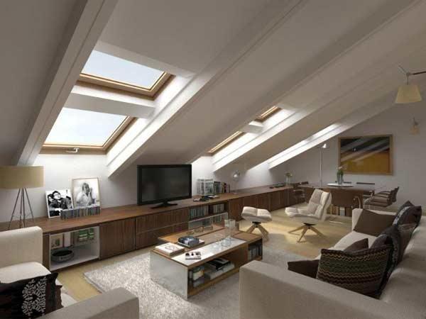 Il fascino di mansarde e sottotetti spazio soluzioni for Arredamento per sottotetto
