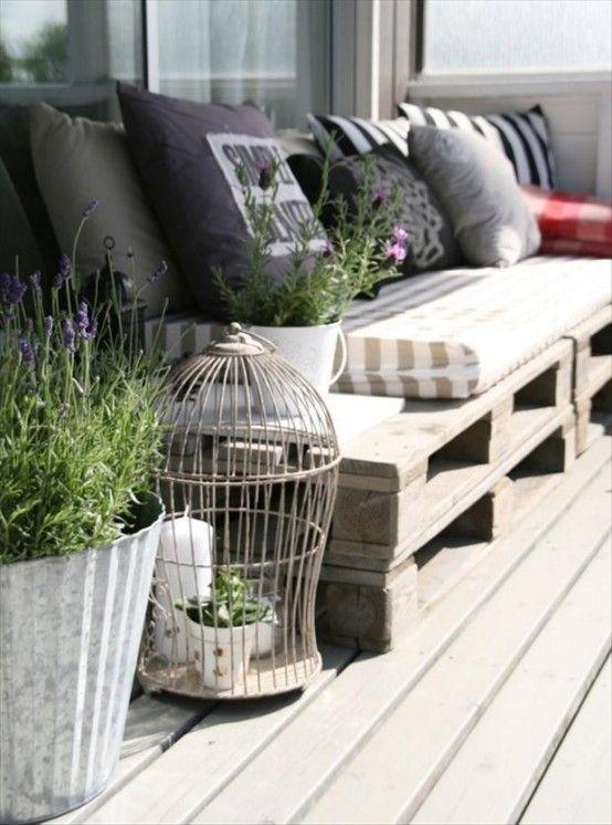 Terrazza balcone e idee outdoor spazio soluzioni - Divanetto da balcone ...