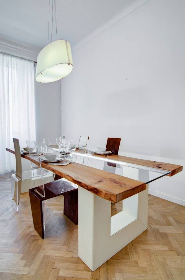 Eccellente tavolo legno grezzo e ferro xj88 pineglen - Tavolo cucina legno grezzo ...