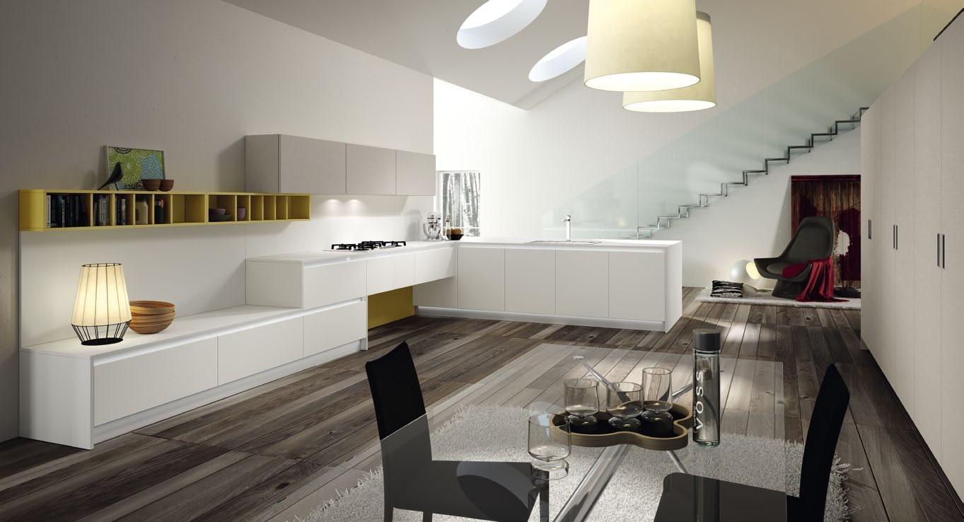 Cucina senza pensili spazio soluzioni - Open space cucina soggiorno ...