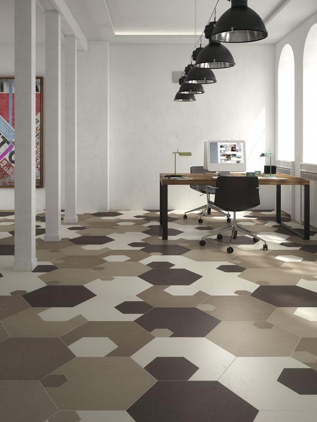Piastrelle esagonali atmosfere vintage spazio soluzioni - Piastrelle esagonali colorate ...
