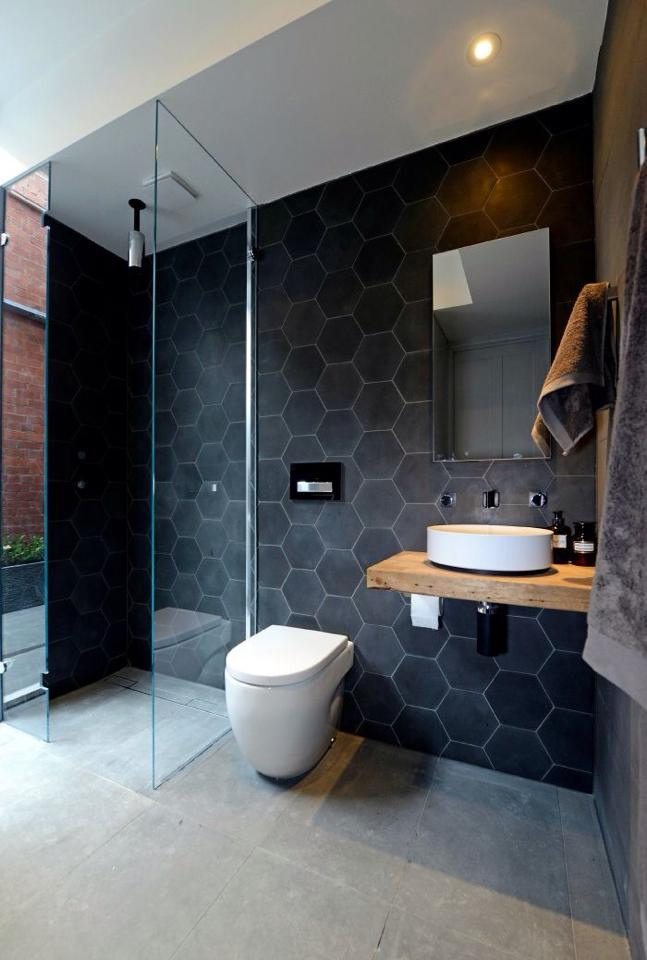 Piastrelle esagonali atmosfere vintage spazio soluzioni for Australian small bathroom design