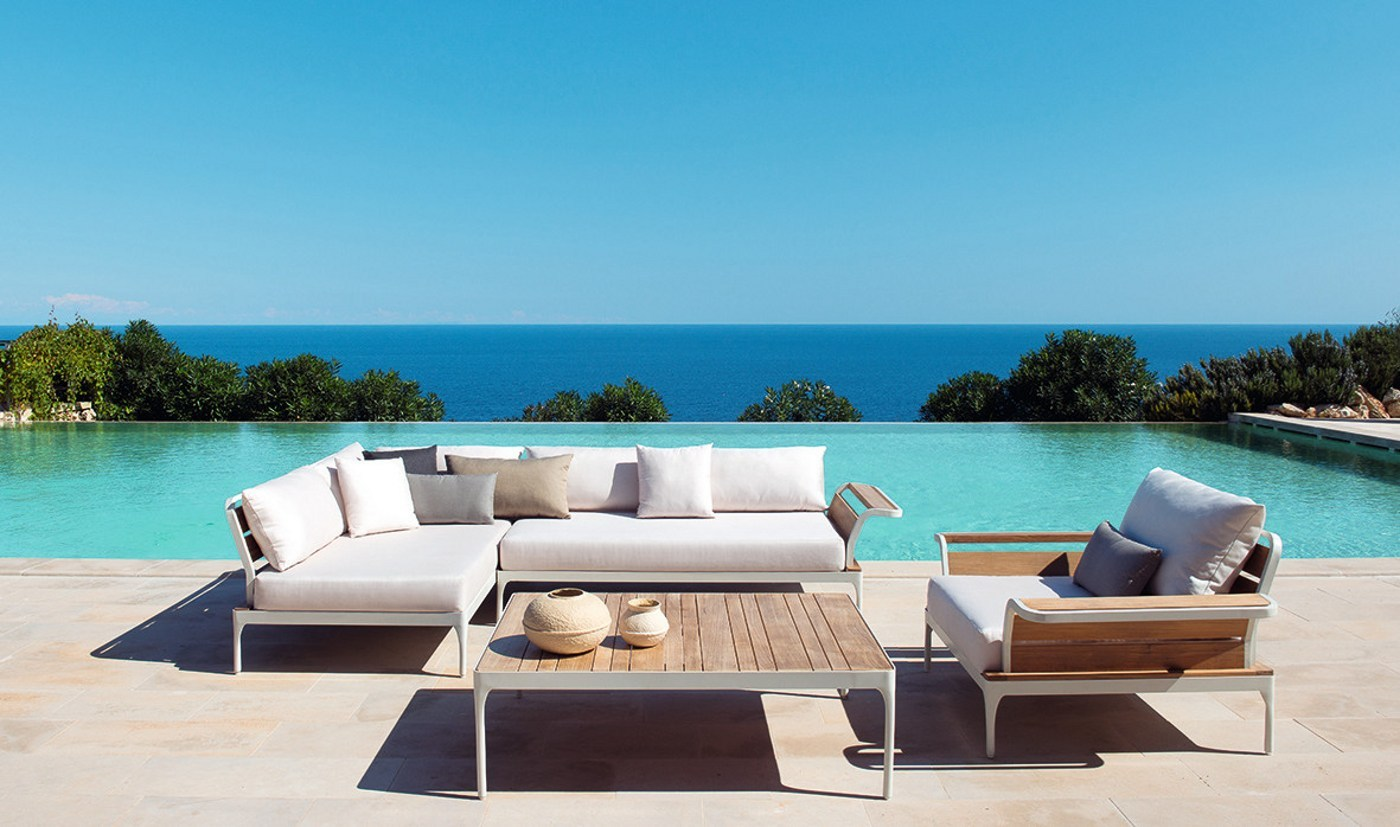 ... mobili per giardino, ma veri e propri oggetti di design da esterno