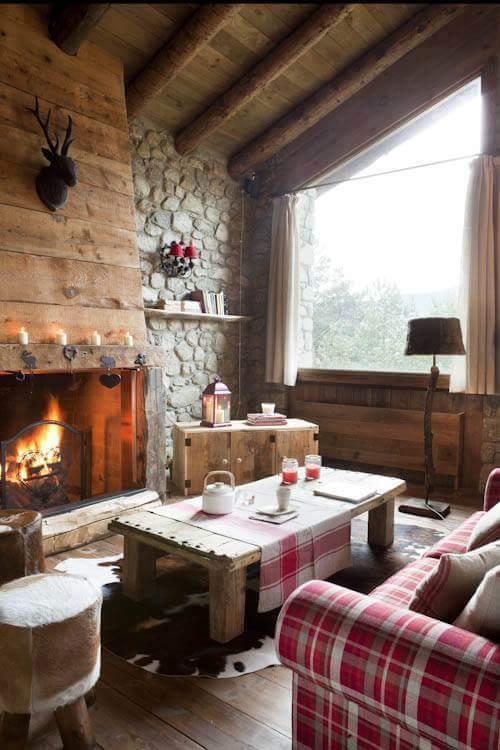 Casa in montagna elegante stile rustico spazio soluzioni - Arredamento casa montagna ...