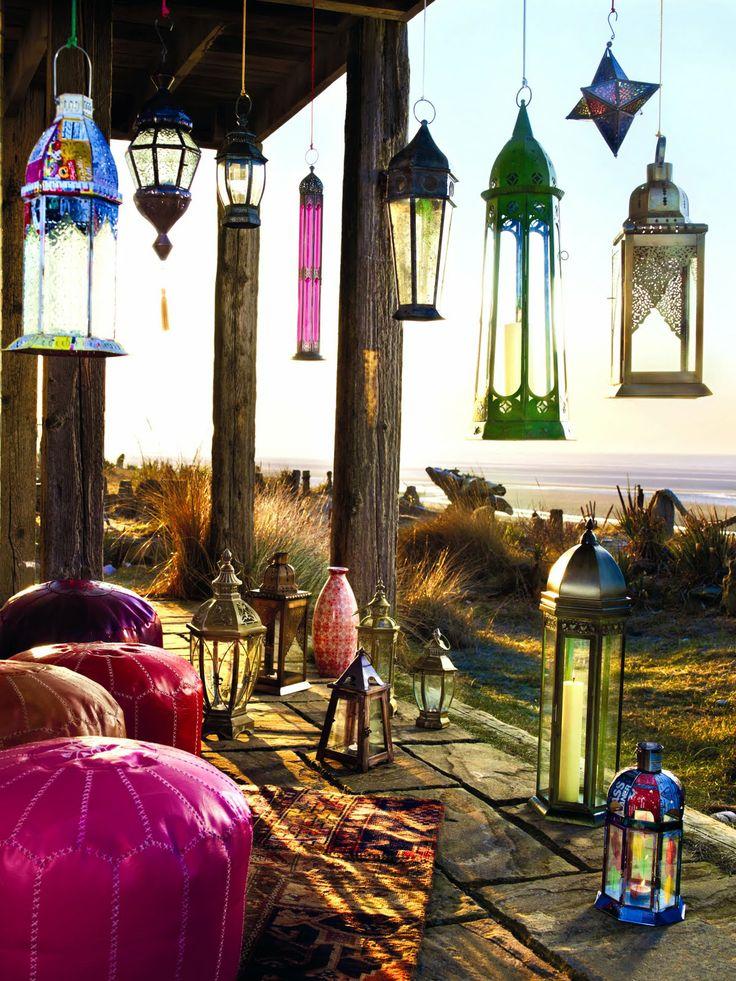 Candele e lanterne per illuminare l 39 estate spazio soluzioni - Lanterne da interno ...