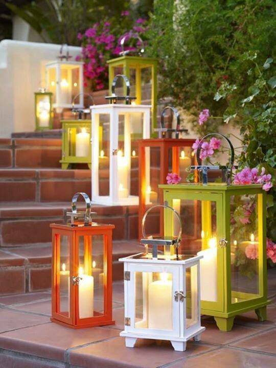 Candele e lanterne per illuminare l 39 estate spazio soluzioni - Candele per esterno ...