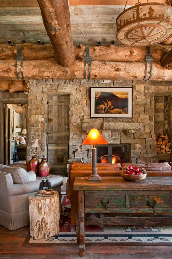 Casa in montagna elegante stile rustico spazio soluzioni for Interni di case eleganti