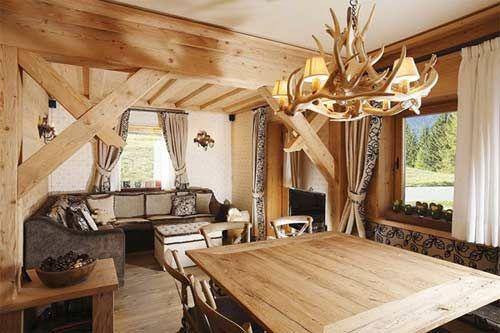 Decorazioni Per Casa Montagna : Casa in montagna elegante stile rustico. spazio soluzioni
