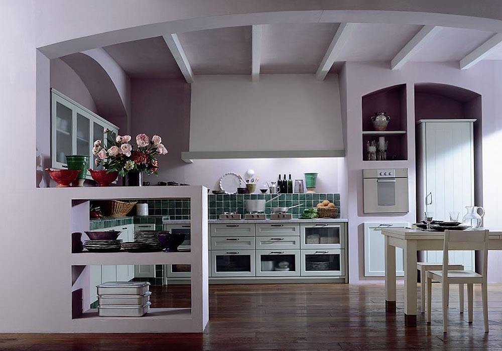 Cucina in muratura classica o moderna spazio soluzioni - Cucina in muratura ...