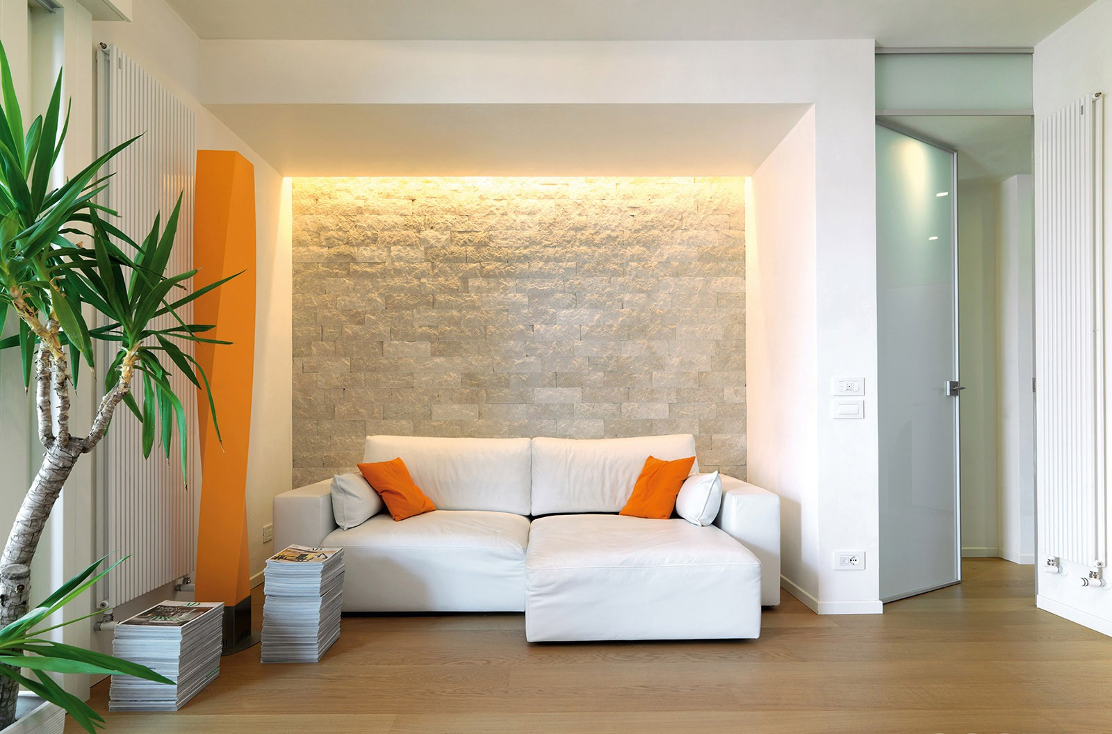 Pietra dall effetto sorprendente spazio soluzioni - Tinte per interni casa ...