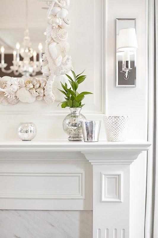 Le conchiglie si prestano benissimo alla decorazione di cornici per specchi.