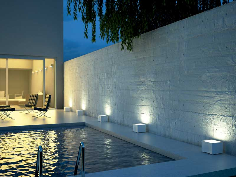 Luci da esterno per creare l 39 atmosfera spazio soluzioni - Luci a led per interni casa ...