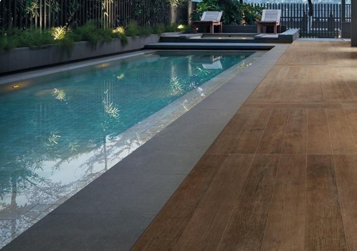 Gres porcellanato effetto legno spazio soluzioni - Pavimento esterno finto legno ...