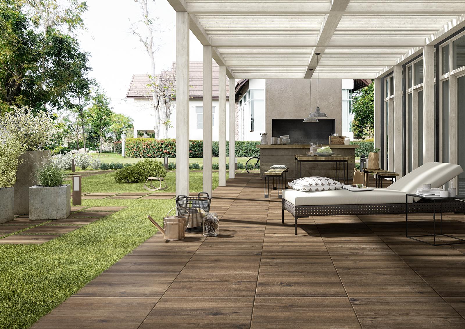 Piastrelle Per Esterni Effetto Legno : Gres porcellanato effetto legno spazio soluzioni