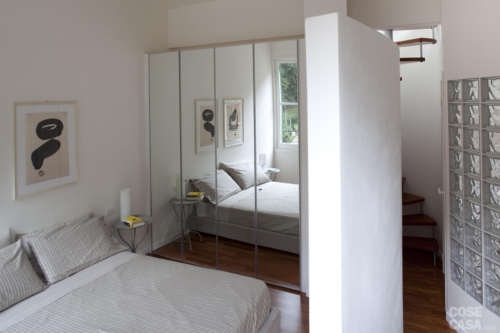 Camera da letto di pochi metri quadrati. - SPAZIO soluzioni