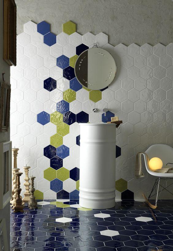 Piastrelle esagonali per una casa moderna spazio soluzioni - Piastrelle esagonali bagno ...