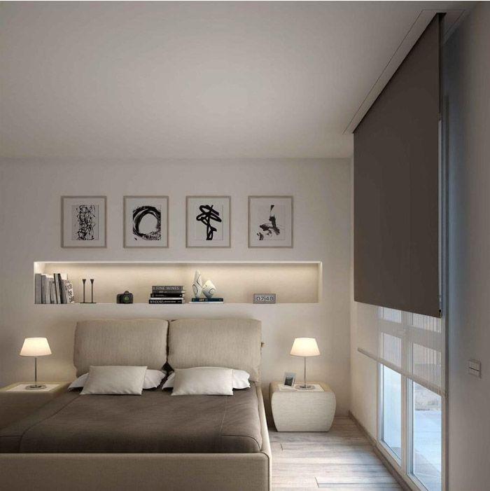 Camera da letto elegante e sofisticata spazio soluzioni for Arredare parete camera da letto