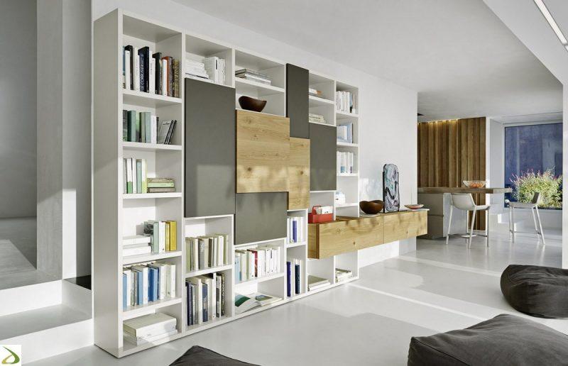 Parete attrezzata funzionale e personalizzabile spazio for Parete da soggiorno moderna