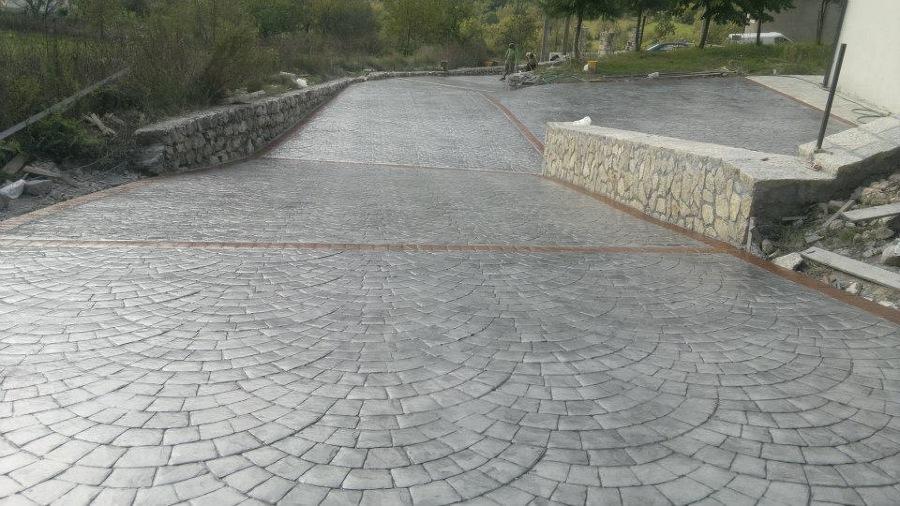 Pavimento Calcestruzzo Stampato : Pavimentazione in calcestruzzo stampato lineacem