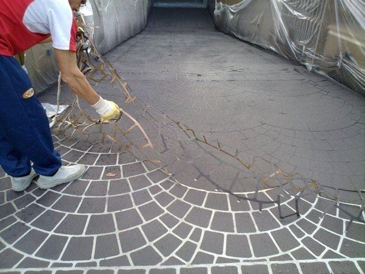 Cemento stampato per i vostri spazi esterni spazio - Pavimenti da esterno economici ...
