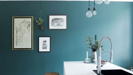 cucina-parete-verde - SPAZIO soluzioni
